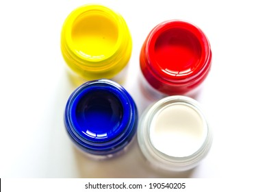 colors bottle isolated on a white background posters.