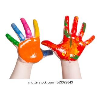 colors children's hands