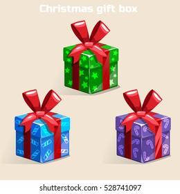 Colors Christmas gift box, similar JPG Copy