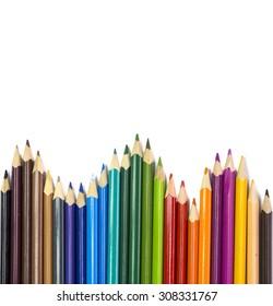 colors pencils for background - school education