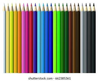 Colors pencils illustration