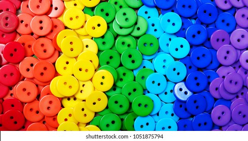 Colors of rainbow. Pattern of multicolored buttons  texture background. Palette of colors of a rainbow.