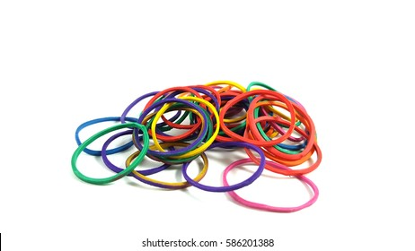 The colors of rubber band