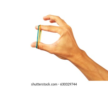 colors Rubber band in hand
