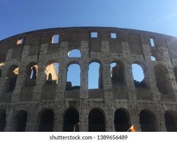 Coloseum monument arena in Italy Rome