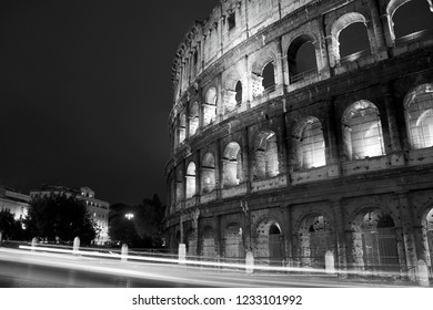 The Coloseum at night