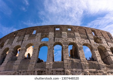 coloseum in Rome with the sky in the background