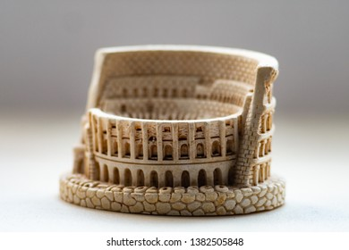 Coloseum souvenir statuette with landmarks from Rome, Italy