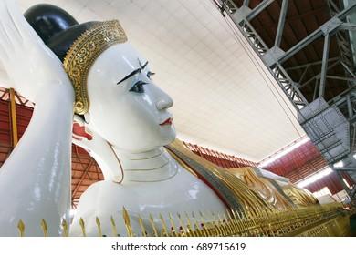Colossal reclining Buddha, Yangon Region, Myanmar, Reclining Buddha, Largest, Beautiful eye Buddha