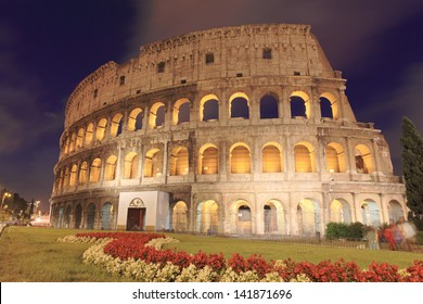 The Colosseum or Coliseum in the centre of the city of Rome, Italy.