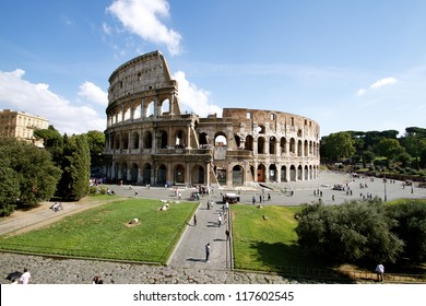 Colosseum at Daytime With Blue Sky
