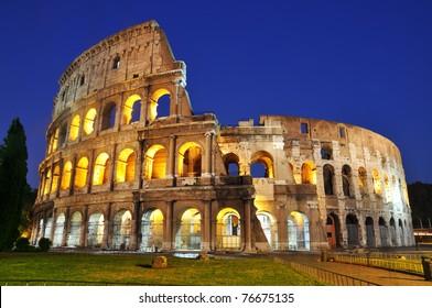 Colosseum at dusk