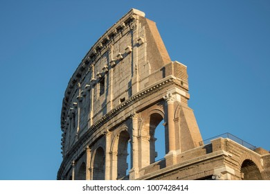 Colosseum or Flavian Amphitheater Detail, Rome, Italy