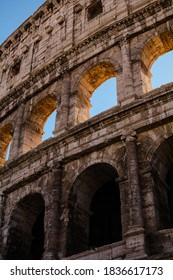 The Colosseum, also known as the Flavian Amphitheatre.