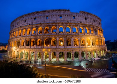 Colosseum landmark of history in Rome ,Italy
