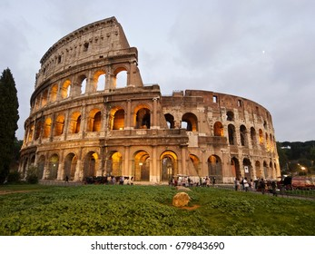 Colosseum on a cloudy day, Rome, Italy