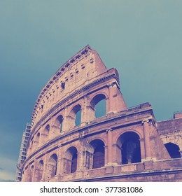 Colosseum in Rome, Italy . Instagram style filtred image