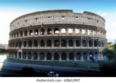 Colosseum Rome Italy. Landmarks of Rome.