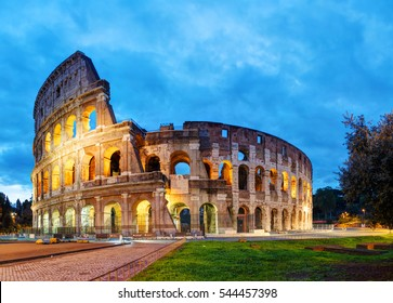 The Colosseum in Rome, Italy in the morning