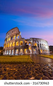 Colosseum in Rome Italy at twilight