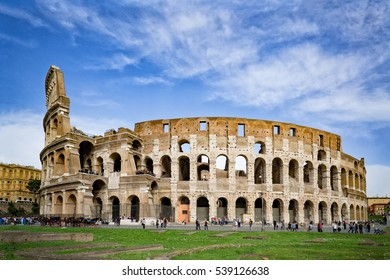 Colosseum in Rome, Italy,selective focus,Panoramic image