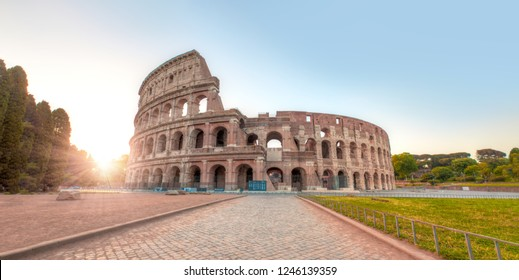 Colosseum in Rome. Colosseum is the most landmark in Rome.