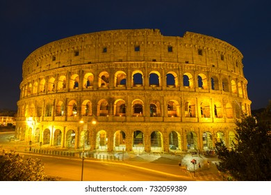 Colosseum in Rome at night , Italy