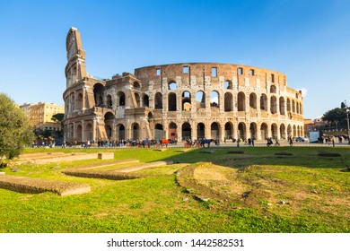 The Colosseum in Rome at sunny day, Italy