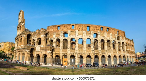 Colosseum in a summer day in Rome, Italy