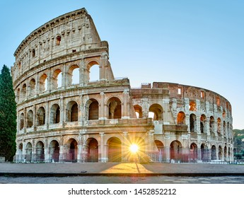 Colosseum at sunrise in Rome, Italy