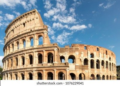 Colosseum at sunset in Rome, Italy.