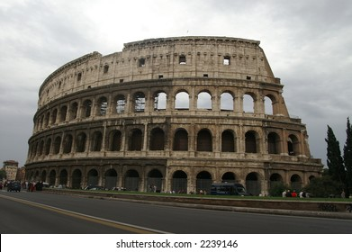 colosseum under cloudy sky and white cloud, Rome, Italy