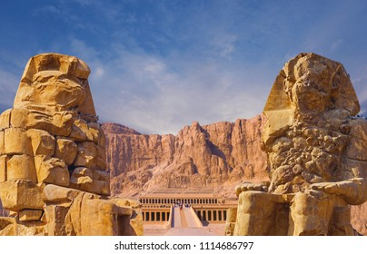 Colossi of Memnon Luxor Thebes, Temple of Queen Hatshepsut