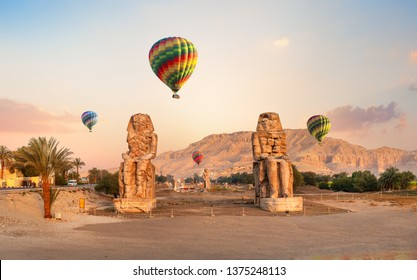 Colossi of Memnon - two massive stone statues of Pharaoh Amenhotep