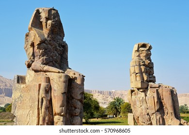 Colossi of Memnon, Valley of the Kings, Luxor, Egypt