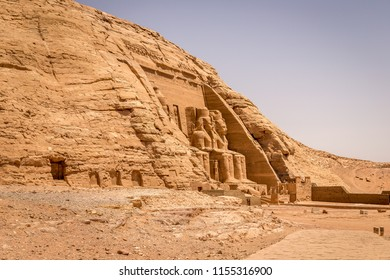 Colossus of The Great Temple of Ramesses II, Abu Simbel, Egypt, Africa