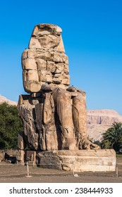 Colossus of Memnon, massive stone statue of Pharaoh Amenhotep III, Luxor, Egypt