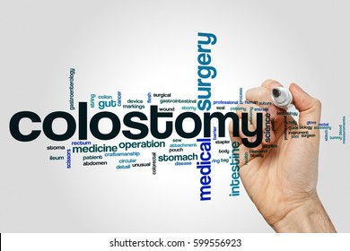 Colostomy word cloud concept