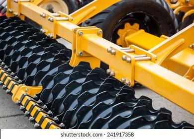 Colour detail of heavy farming equipment