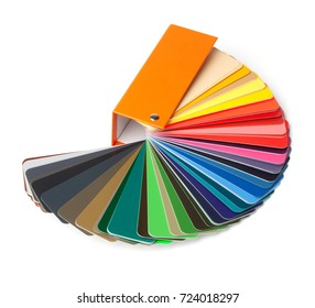 Colour Fan or Chart spread out, Isolated on White Background