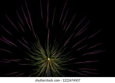 Colour firework burst