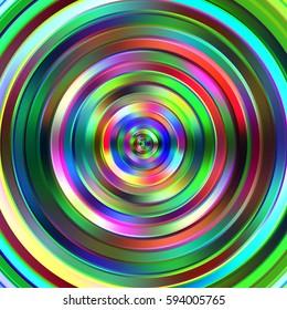 Colour graduated circles stripes illustration.