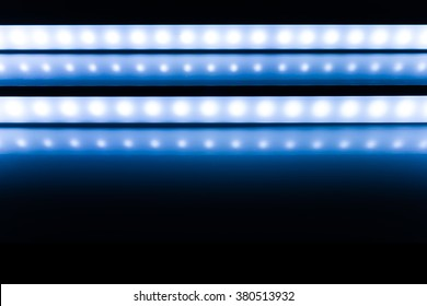 colour of led rigid strip lighht : two of led light line on Blue
