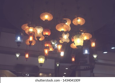 colour lights from hanging lamps