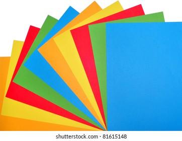 Colour paper, rainbow, fan,