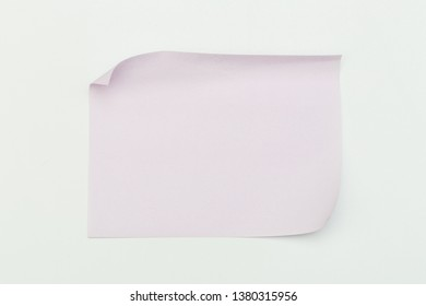 colour  paper stick note on a white background - Image