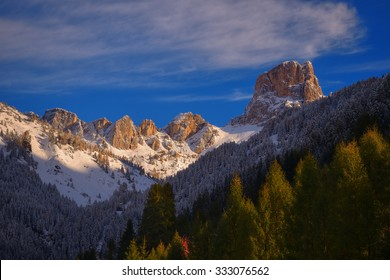Colour photo of Averau in autumn summer day in Dolomites. South Tyrol, Italy, Europe, UNESCO World Heritage Site