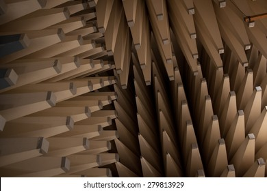 Colour picture of an anechoic chamber and equipment