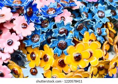 Colour porcelain flovers