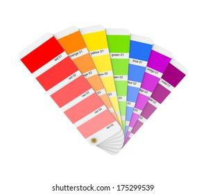 Colour sampler.Isolated on white.3d rendered.
